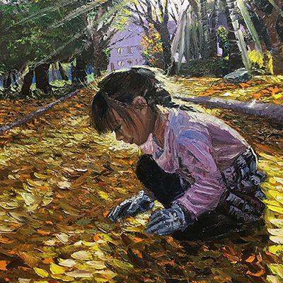 <h2>Fallen Leaves (落ち葉) </h2><span>72.7cm x 60.6cm</span>