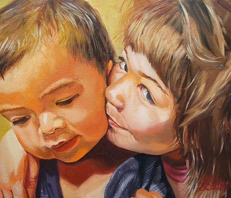 <h2>Sisterly Love (姉弟愛) </h2><span>31.8cm x 41.0cm</span>